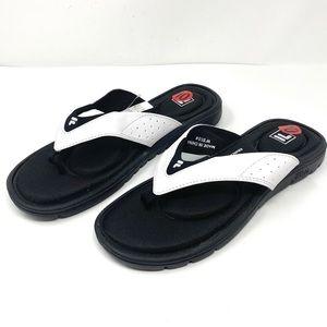 NEW Womans FILA  Black & White Memory Foam Sandals